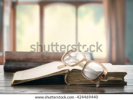 Reading books - stock photo