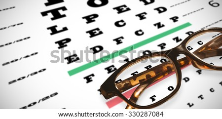 Reading glasses against eye test