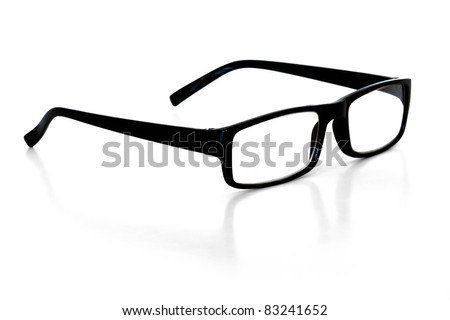 reading glasses over white background - stock photo