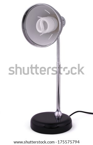 Reading lamps. Isolated on white background. Clipping path included.
