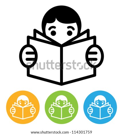 reading open book icon