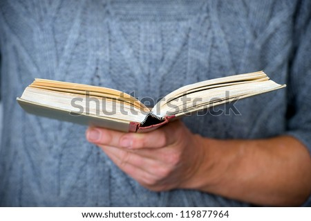 reading person - stock photo