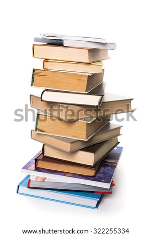 Reading, pile of books