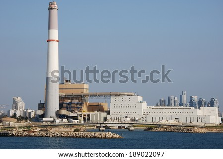 Reading Power Station supplying electrical power to the Tel Aviv District in central Israel