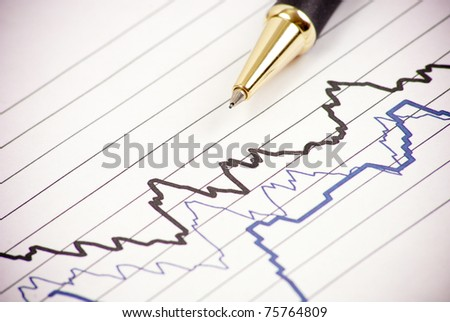 Reading Seismology Graphs - stock photo