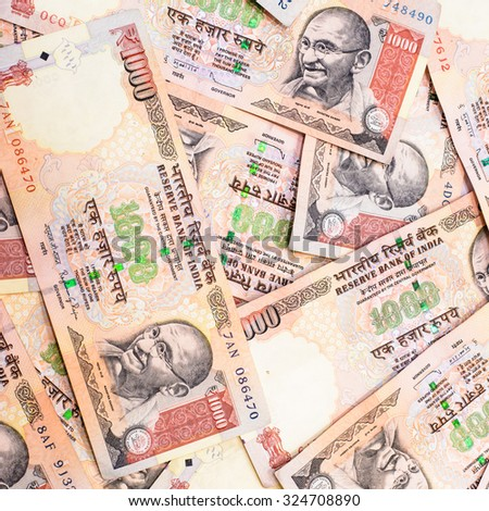 Ready for exchange with colorful of Indian rupee currency,money - stock photo