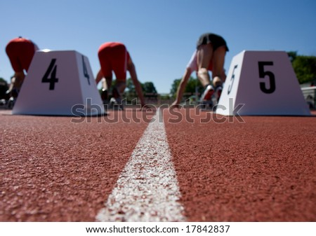 Ready, Set, Go ! - stock photo