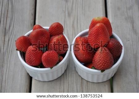 Ready to eat strawberries - stock photo