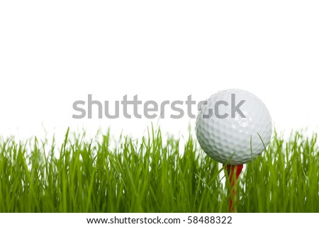 Ready to tee off - stock photo