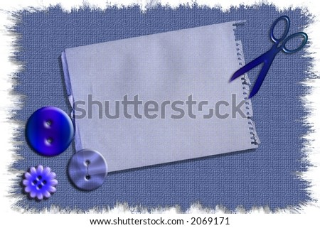 Ready to use craft sewing stationary template for scrapbooking , greetings cards and more web/print projects - stock photo