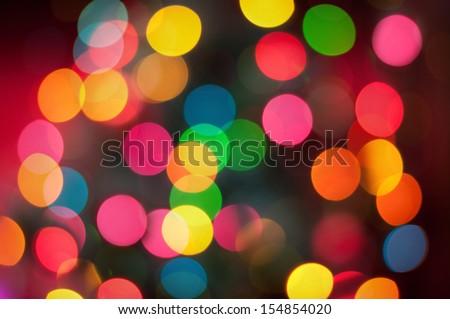 Real bokeh of christmas lights - stock photo