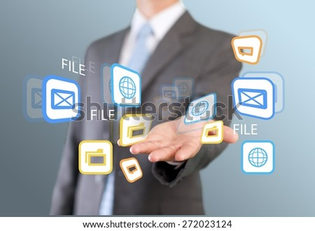 Real. Businessman build your city concept - stock photo