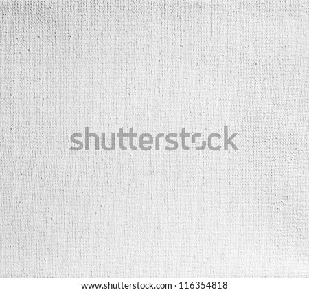 real canvas texture coated by white primer - stock photo