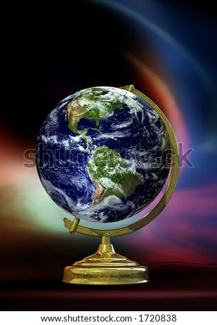 Real earth Globe - stock photo