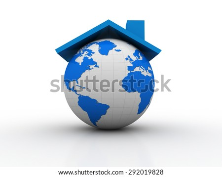 Real estate arround the World - stock photo