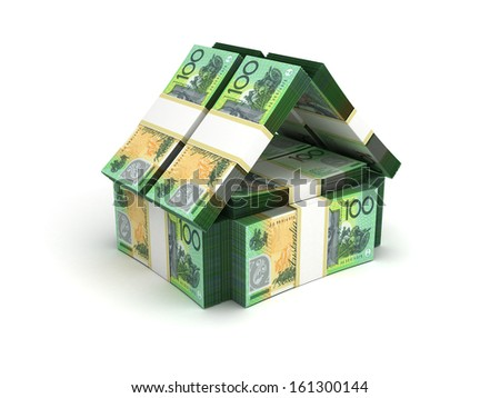 Real Estate Concept Australian Dollar - stock photo