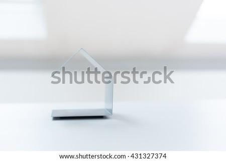 Real estate concept -  home architectural model - stock photo