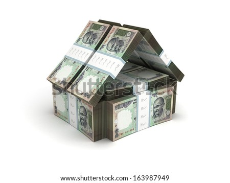 Real Estate Concept Indian Rupee