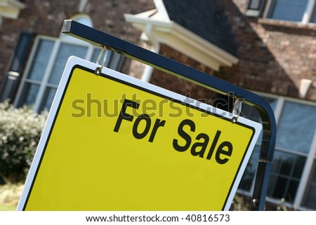 Real estate FOR SALE sign - stock photo