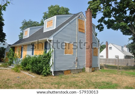 Real Estate Foreclosure Short Sale Home - stock photo