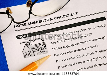 Real estate home inspection checklist and condition report