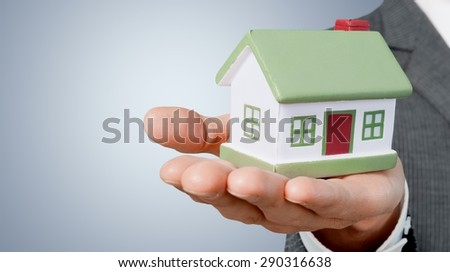 Real Estate, House, Housing Problems. - stock photo