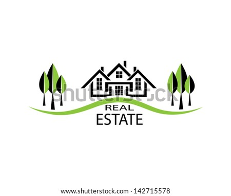 Real estate. House on white background