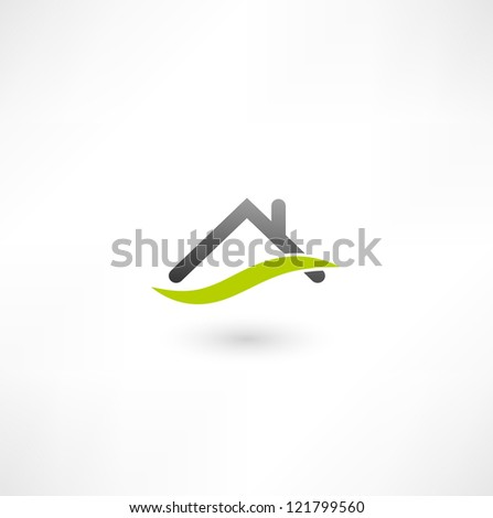 Real estate icon - stock photo