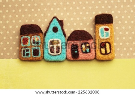 real estate, little houses - stock photo