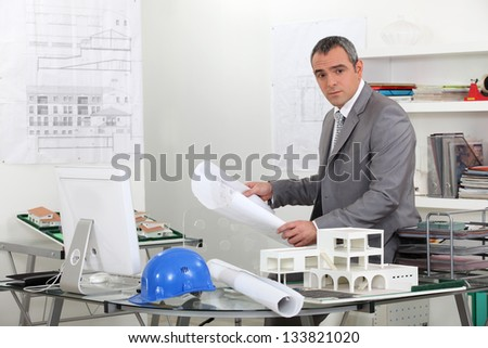 Real estate office - stock photo