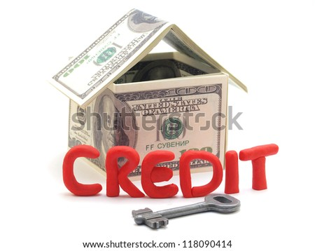 Real estate on credit - stock photo