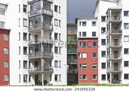 Real Estate Residential District Full Frame - stock photo