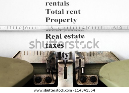 Real estate tax concept - stock photo