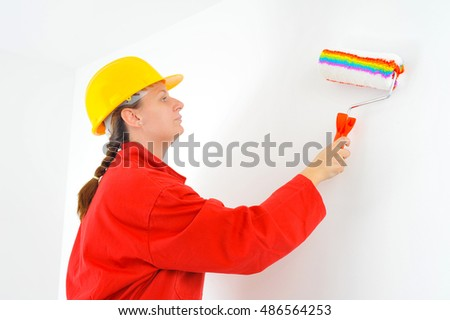 Real female beauty painting wall