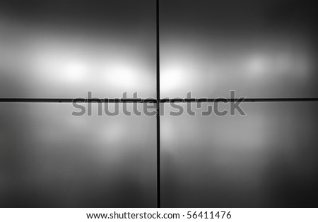 Real Grey metal background of a office building. - stock photo