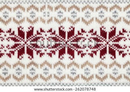 Real knitted fabric textured background - stock photo