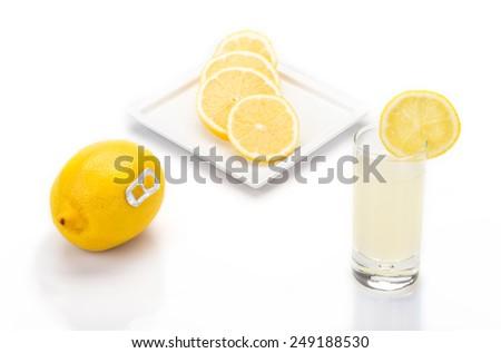real lemon juice - stock photo