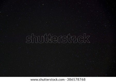 Real natural starry night  sky - stock photo