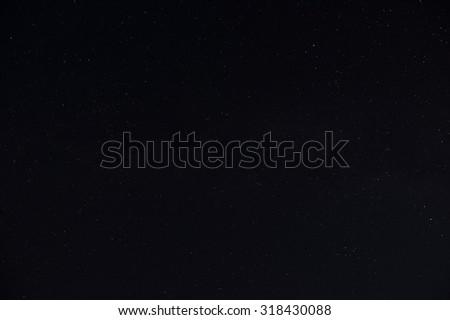 Real Night Sky with Stars  - stock photo