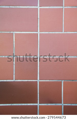 Real orange tile patern placed on the floor