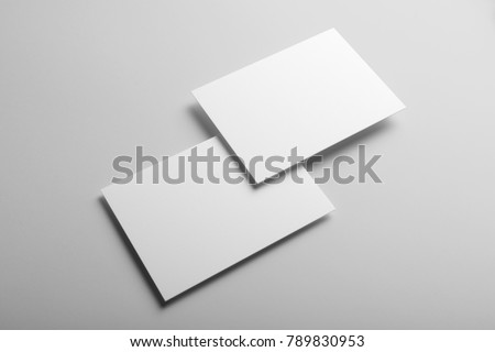 Real photo business card mockup template stock photo download now real photo business card mockup template front and back isolated on light grey cheaphphosting Choice Image