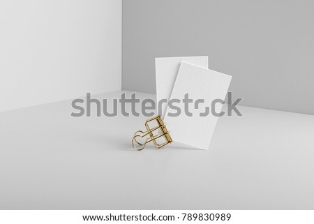 Real photo business card mockup template stock photo 789830989 real photo business card mockup template isolated on light grey background to place your flashek Choice Image
