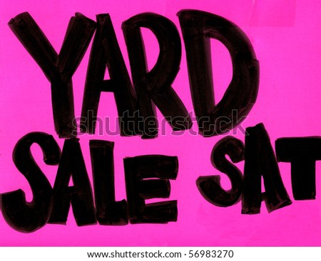 Real Yard Sale Sign - stock photo
