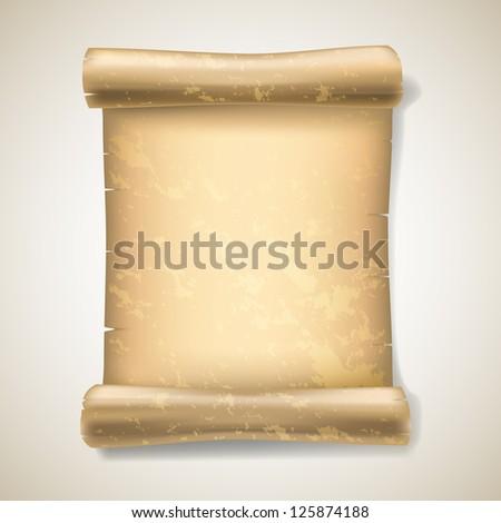realistic ancient scrolls - stock photo
