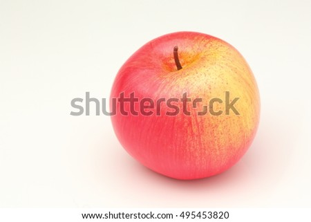 Realistic apple design mimic natural apple.