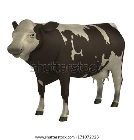 realistic 3d model of cow