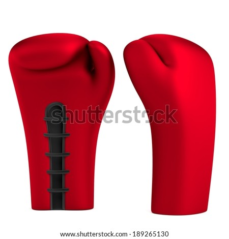 realistic 3d render of boxing gloves