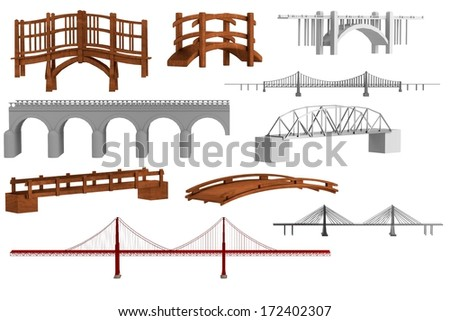 realistic 3d render of bridges