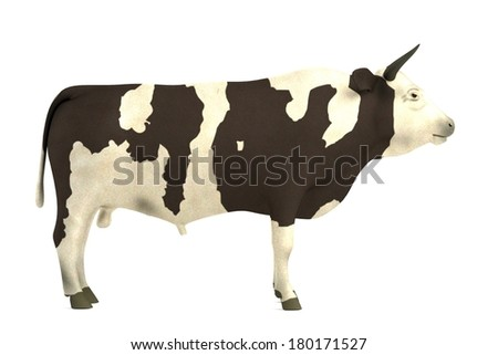 realistic 3d render of bull