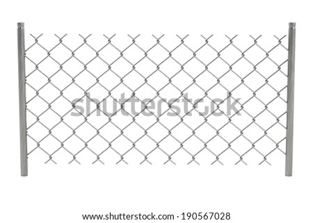 realistic 3d render of chain fence - stock photo